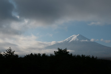 Mt Fuji with clouds