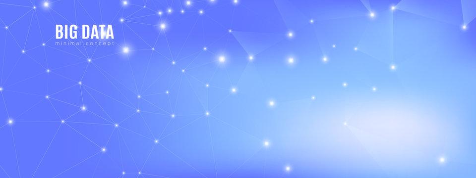 Blue Big Data Center. Technology Texture. Light