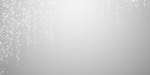 Random white dots Christmas background. Subtle fly Wall mural