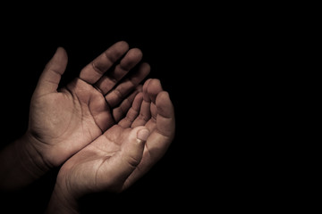 hand of child supplicate Almighty