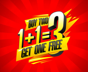 Buy two get one free sale banner design