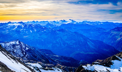 view at the kitzsteinhorn mountain in austria