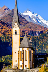 village heiligenblut near the grossglockner mountain