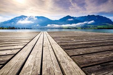 walchsee lake in austria