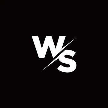 WS Logo Letter Monogram Slash with Modern logo designs template
