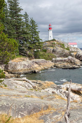 Kanada, Point Atkinson Lighthouse in West Vancouver, BC