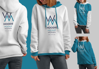 4 Hooded Sweatshirt Mockups