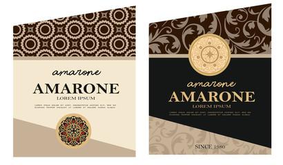 wine label vino amarone rosso etichetta cioccolato