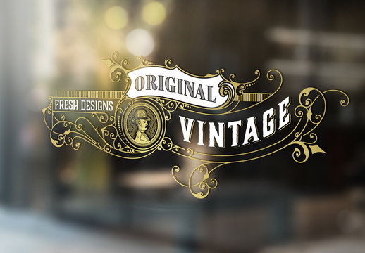 Vintage Logo Layout with Victorian Embellishments