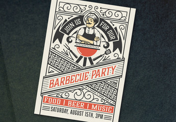 Barbecue Party Invite Layout