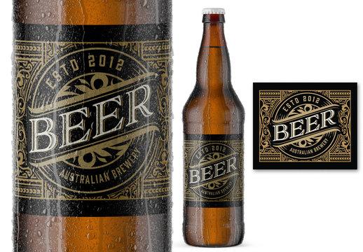 Vintage Style Beer Label Layout
