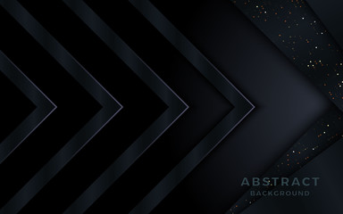 Luxurious metallic arrow 3d background with glitters.