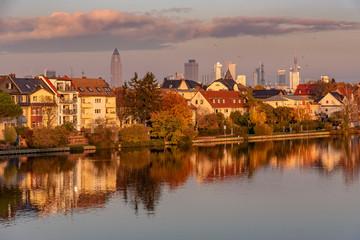 Griesheim in Frankfurt am Main im Abendlicht