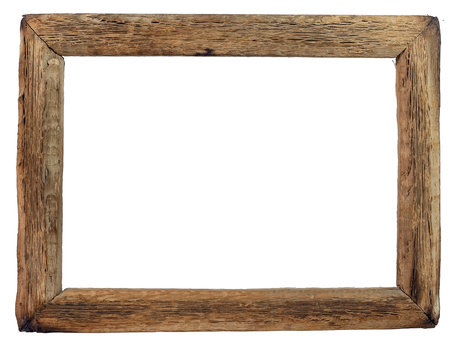 Vintage saguaro cactus picture frame. Empty. Isolated.