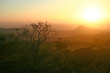 Sunset  in the foothills of Rincon de la Vieja National Park, Guanacaste, Costa Rica