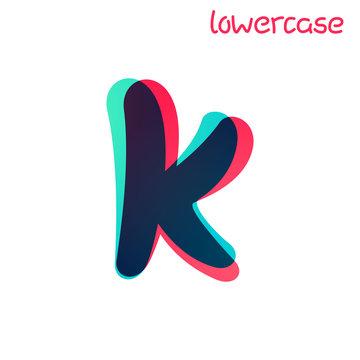 Overlapping gradient lowercase letter k logotype.