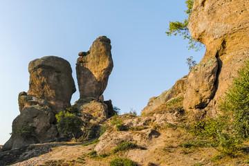 Sunset at Rock Formation Belogradchik Rocks, Bulgaria