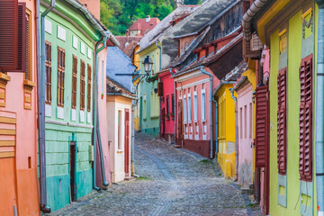Cityscape of Sighisoara (Transylvania, Romania, Europe)