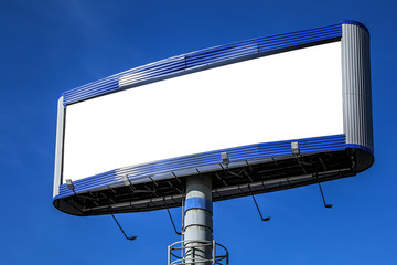 post with billboards over blue sky background Wall mural