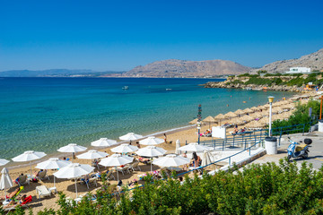 Pefkos Beach or Pefki Rhodes Greece