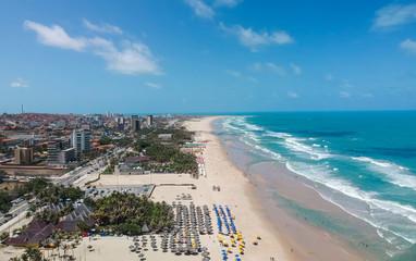 Praia do Futuro em Fortaleza, Ceará, Brasil. Vista aérea
