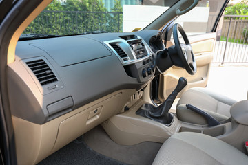 interior front seat of vehicle car automobile