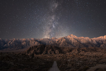 Fotorollo Schokobraun The Road to Alabama Hills