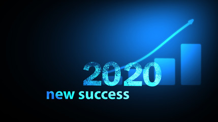 business concept. new successes in 2020.