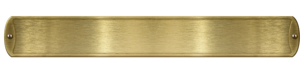 Wall Mural - Gold or brass brushed metal plate isolated with clipping path included