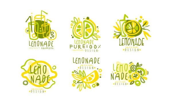 Lemonade Labels or Logos Original Design Vector Set