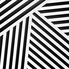Wall Mural - Abstract minimal background with black and white stripes. Vector geometric design