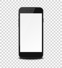 Smart phone on transparent background.