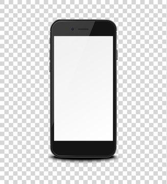 Smart phone on transparent background.