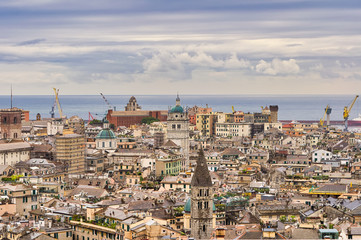 Aerial view on a traditional Mediterranean city