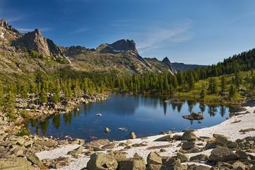 Ergaki Ridge Nature Park. Krasnoyarsk region Russia
