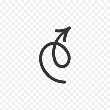 Vector illustration. stylish arrow, pointer, spiral. Stock vector illustration isolated on white background.