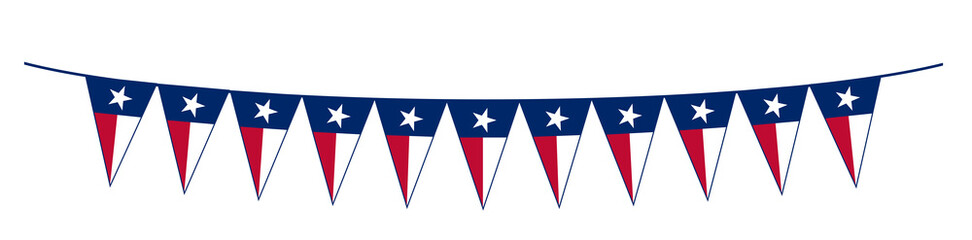 Texas State Flag Bunting