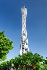Beautiful view of the Canton Tower in Guangzhou, China