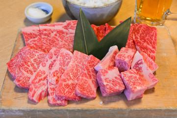 Wagyu beef platter, Japanese style