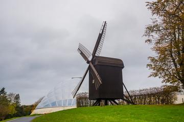 AARHUS, DENMARK: Old windmill near the botanical garden in Aarhus