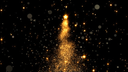 shining star Christmas tree. 3d rendering