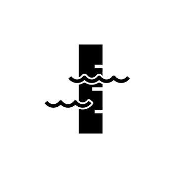 Water level sensor icon. Clipart image isolated on white background