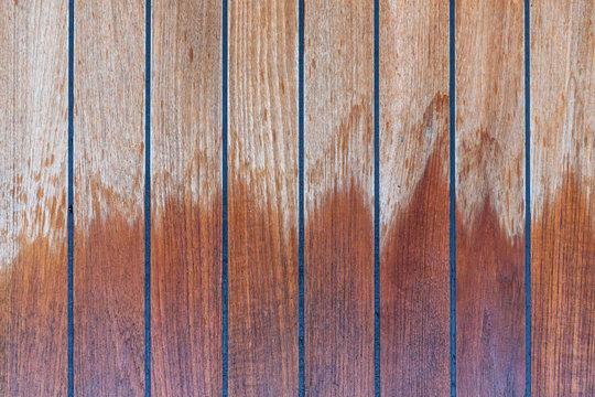 Wet Wood Patio