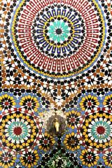Beautiful mosaic wall with beautiful pattern