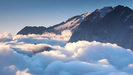 Wall Mural - Splendid view on the peaks of Dolomites Alps. Location South Tyrol, Italy, Europe.