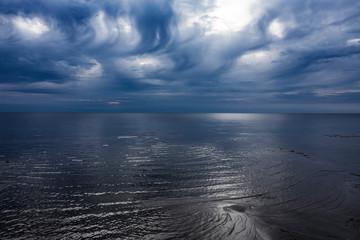 Morning light over gulf of Riga, Baltic sea.