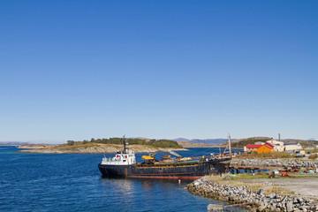 Baggerschiff in Abelaer