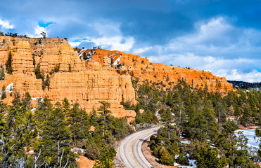 Scenic Byway 12 at Red Canyon in Utah, the USA Fototapete