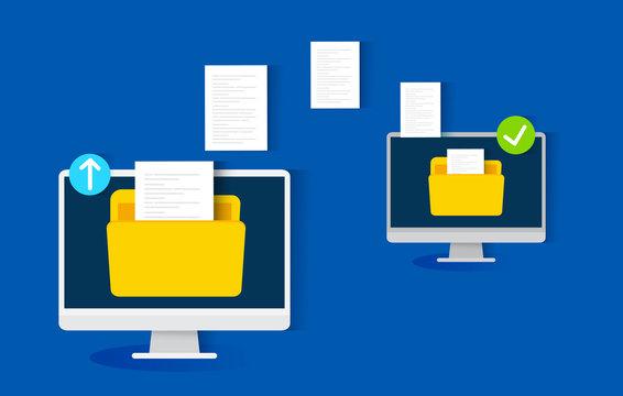 file transfer concept, vector illustration