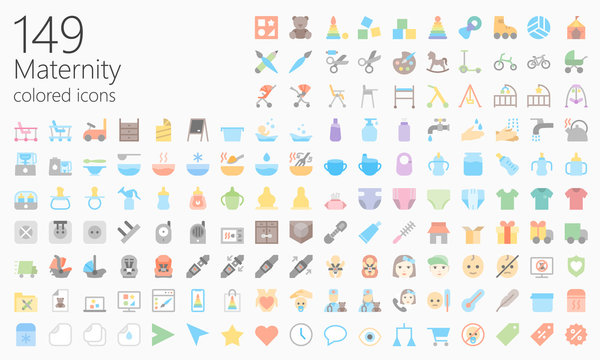 Maternity colored iconset